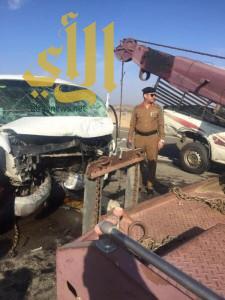 وفاة و9 إصابات بحادث مروري على مفرق أبو راكة بالباحة