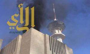 حريق في مبنى التلفزيون السعودي بالرياض