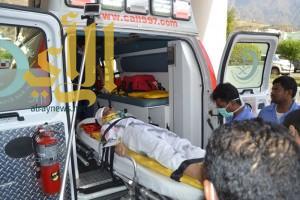 مستشفى رجال المع يستقبل وفاة وثمان إصابات اثر التماس كهربائي بمجمع دراسي