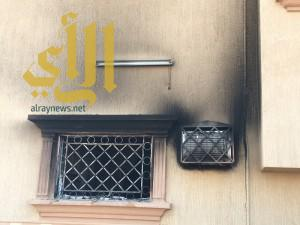 حريق يلتهم منزل معلمة في جاش