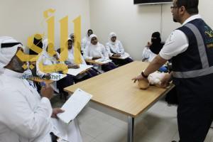 دورة الإنعاش القلبي الرئوي بمستشفى خميس مشيط للولادة والأطفال