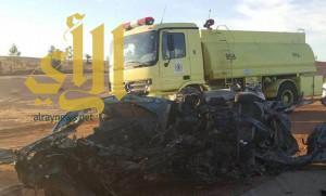 مصرع 6 أشخاص في حادث تصادم وجهاً لوجه جنوب المزاحمية