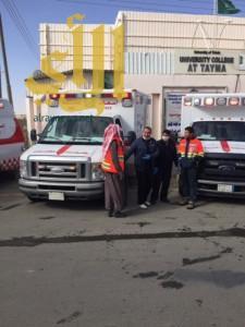 خمس إصابات بحريق محدود بفرع جامعة البنات في تيماء