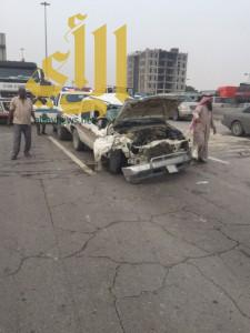 إصابة ثلاثة أشخاص بحادث سير على طريق أبو حدرية