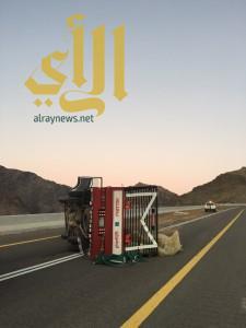 27 مصاباً بحوادث مرورية متفرقة بمنطقة تبوك