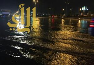 امطار غزيرة على منطقة جازان