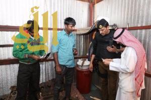 """شرطة """"الجوف"""" تلقي القبض على 45 مخالف لنظامي الإقامة والعمل"""
