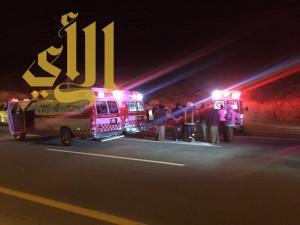 أربع إصابات خطيرة ومتوسطة نتيجة حادث إنقلاب على طريق العقيق