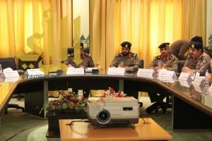 مدير شرطة عسير يترأس إجتماع بمدراء الشرط والمخافر