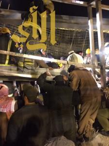 سقوط مبنى تحت الإنشاء شرق بريدة والجهات المختصة تباشر عملها