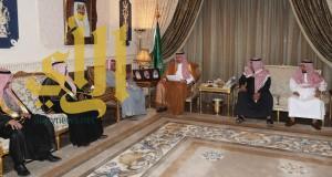 الأمير عبدالله بن مساعد يستقبل إدارة نادي الجبيل وفريق لعبة الكاراتيه