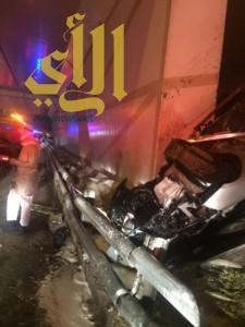 عناية الله تنقذ شاب من موت محقق بحادث سير على كوبري أبو حدرية