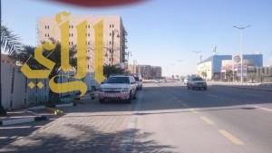 إنهيار جدار مبنى تحت الإنشاء يصيب عاملان بالدمام