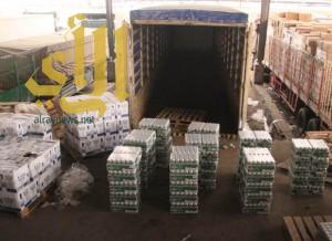 إحباط تهريب 3 آلاف زجاجة خمر و 64 ألف علبة بيرة بجمرك البطحاء