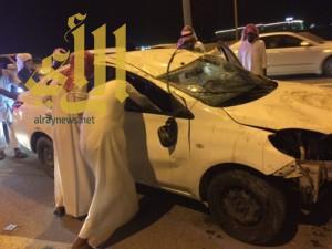 إصابة مواطن بحادث على كوبري السليمانية بمحافظة الأحساء