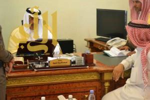 سمو أمير الباحة يتفقد محافظتي الحجرة وقلوة