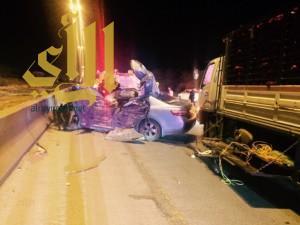 إصابة أم وطفلتها ووفاة آخر بحادث مروري على الدائري الغربي ببريدة