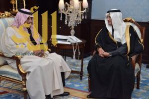 الأمير مشاري بن سعود يستقبل سمو مستشار وزير الإسكان