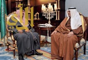 سمو أمير منطقة الباحة يستقبل سمو رئيس الاتحاد السعودي لألعاب القوى