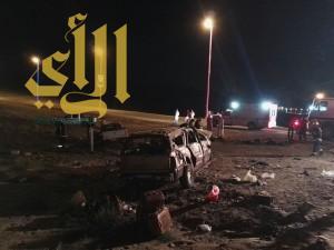 وفاة أم وأطفالها بحادث مروري بمحافظة بدر