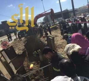 وفاة مقيم إثر إنهيار كوبري الرهوة بالباحة