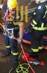 سقوط عامل في خزان محطة وقود تحت الإنشاء بالجنينة