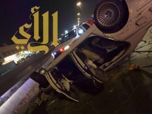 إصابة شخص بحادث سير على طريق أبو حدرية بالدمام