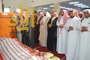 تشييع جثمان الشهيد القيسي في محافظة الصامطة