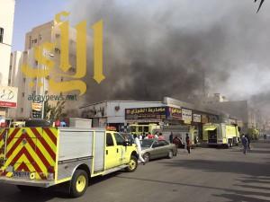 السيطرة على حريق المنطقة الصناعية بجدة