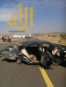 إنقلاب مركبة بطريق الطائف الباحة يخلف العديد من الإصابات