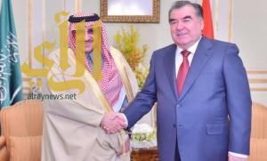ولي العهد يبحث مع رئيس طاجيكستان تعزيز العلاقات بين البلدين
