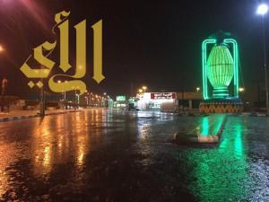الامطار تزين أجواء محافظة طريب