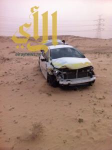 إصابة مقيم عربي في حادث سير بطريق خريص الأحساء