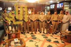 مدير شرطة منطقة الجوف يكرم الجبر والسرحاني