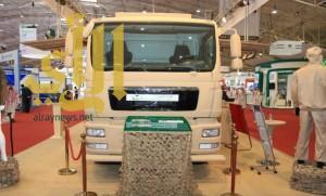 معرض القوات المسلحة يقدم عربة محلية الصنع لتطهير أسلحة الدمار الشامل