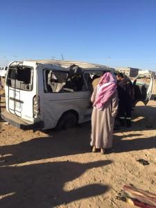 """وفاة ثلاث طالبات و""""10″ إصابات بحادث انقلاب ميكروباص ببيشة"""