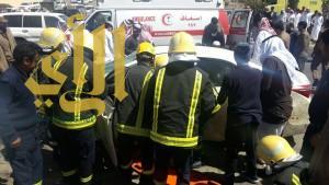 """وفاة و""""15″ إصابة بحوادث مرورية بمنطقة الباحة خلال يومين"""