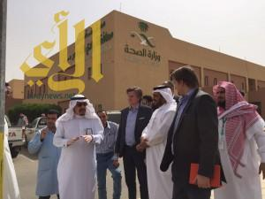 زيارة فريق من صحة الرياض والشركة المشغلة لوحدة الكلى الصناعية لمستشفى وادي الدواسر