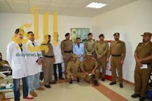 مستشفى الملك فهد بالباحة ينظم حملة تبرع بالدم لأبطال الحد الجنوبي