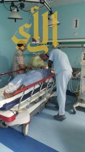طوارئ مستشفى محايل تستقبل 10 اصابات على إثر حادث مروري