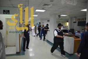 تنفيذ فرضية حريق وهمية بمستشفى رجال المع تخلف وفاتان و14 اصابة