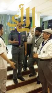 نائب رئيس جمعية الكشافة يلتقي المتدربين في دراسة مفوضي تنمية المراحل