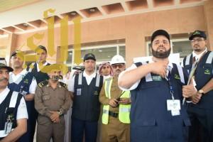 """""""المتحمي"""" يشهد تنفيذ تجربة وهمية بمستشفى محايل وبمشاركة عدد من الأجهزة الحكومية"""
