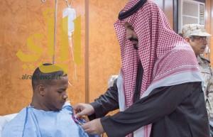 محمد بن سلمان لمصابي الحد الجنوبي: انتم فخرنا وعزنا
