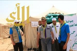 الدكتور عبدالله الفهد يتفقد مخيم الحزم الكشفي ويلتقي الجوالة والقادة