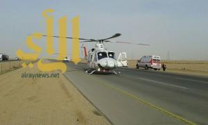 إصابة شخصين بحادث سير على الدائري الغربي ببريدة