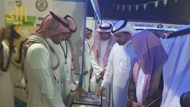 شرح من الجهات المشاركة في المعرض للضيوف