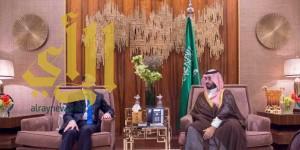 سمو ولي ولي العهد يجتمع برئيس البرلمان العراقي