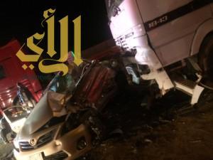 وفاة شاب وإصابة آخرين بحادث مروري على الطريق الدائري بتبوك