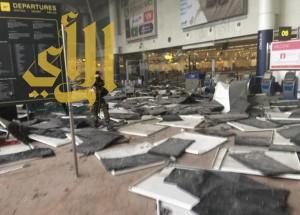 وقوع قتلى وجرحى بانفجارين هزا مطار بروكسل